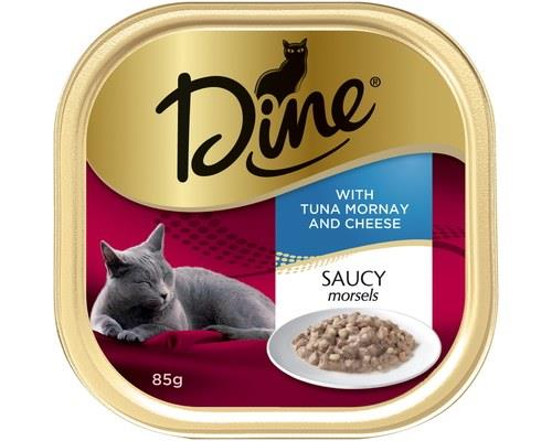 Dine Cat Food, Tuna Mornay with Cheese in Sauce, 85g x 14 TraysTender pieces of tuna mornay are...