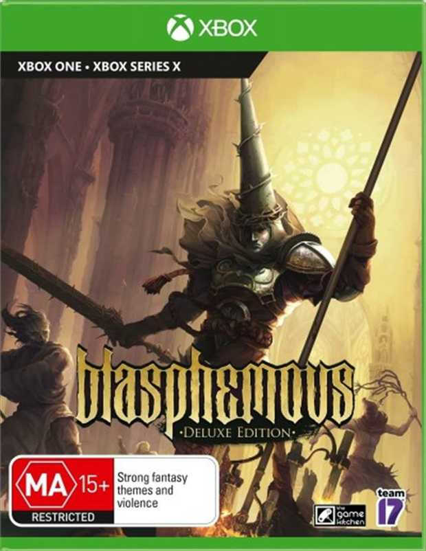 Blasphemous Deluxe EditionBlasphemous is a brutal action-platformer with skilled hack n slash combat...