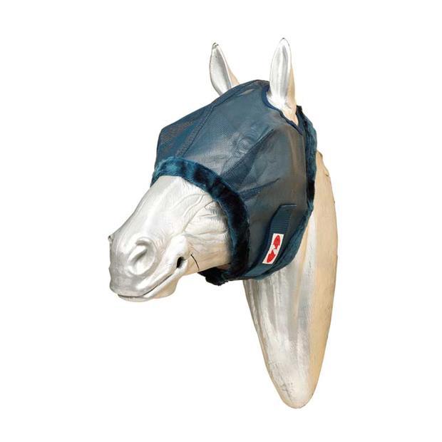 Zilco Flymask With Fleece Trim Medium Pet: Horse Size: 0.2kg Colour: Blue  Rich Description:...