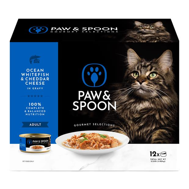 Paw And Spoon Ocean Whitefish And Cheddar Cheese Wet Cat Food 2 X 12 X 85g Pet: Cat Category: Cat...
