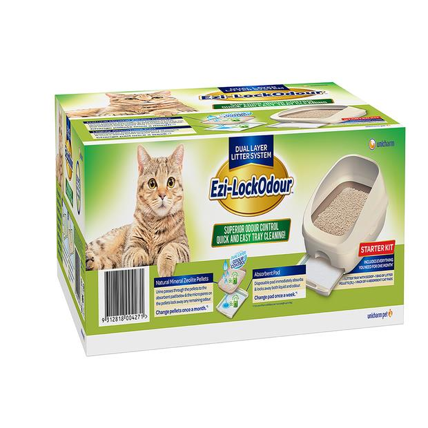 Ezi Lockodour Dual Layer Cat Litter System Pet: Cat Category: Cat Supplies  Size: 12kg Material:...