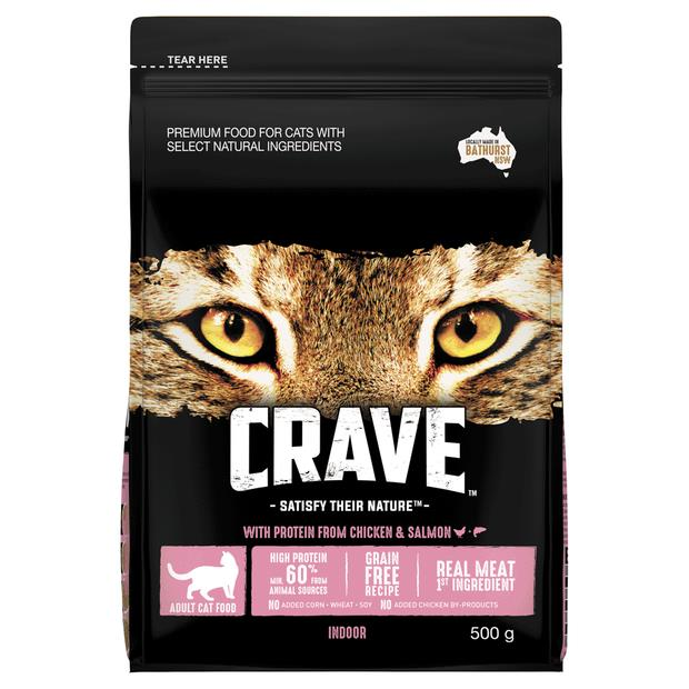 Crave Dry Cat Food Chicken And Salmon Bag 500g Pet: Cat Category: Cat Supplies  Size: 0.4kg  Rich...