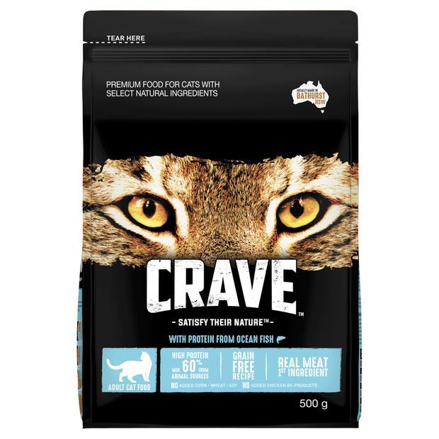 Crave Dry Cat Food Ocean Fish Bag 500g Pet: Cat Category: Cat Supplies  Size: 0.4kg  Rich Description:...