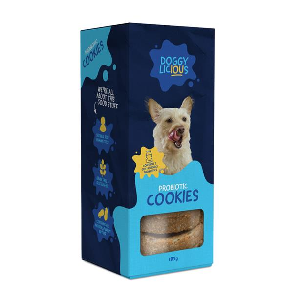 Doggylicious Probiotic Cookies 180g Pet: Dog Category: Dog Supplies  Size: 0.2kg  Rich Description: All...