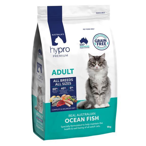 Hypro Premium Dry Cat Food Adult Ocean Fish 9kg Pet: Cat Category: Cat Supplies  Size: 9.1kg  Rich...