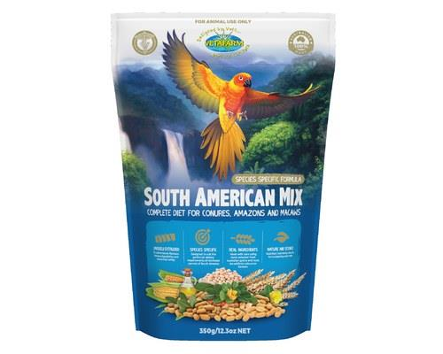 Vetafarm South American Mix, Pellets for Parrots, 350gRecommended for:Small to medium South...