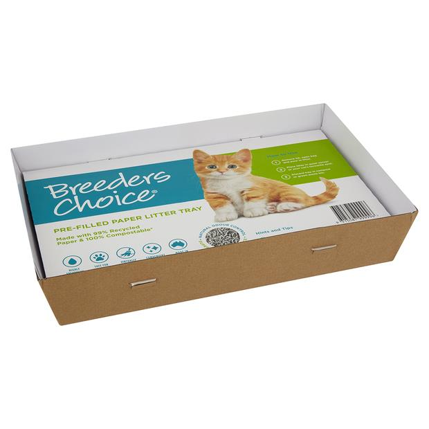 Breeders Choice Single Use Tray X 5 Pet: Cat Category: Cat Supplies  Size: 6.1kg Material: Paper  Rich...