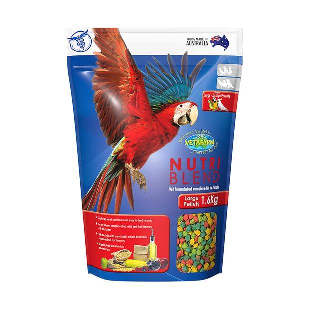 Vetafarm Nutriblend Pellets Large 1.6kg Pet: Bird Category: Bird Supplies  Size: 1.6kg  Rich...