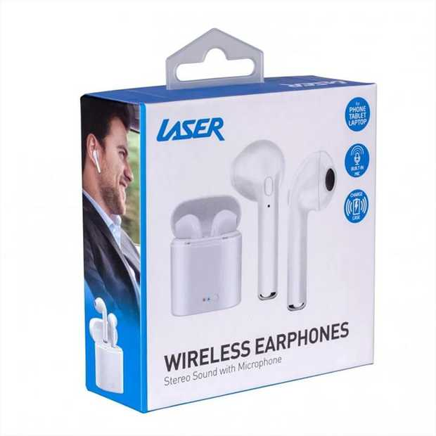 Laser Wireless Earphones (White) comes with Bluetooth technology, offering wireless connectivity and...