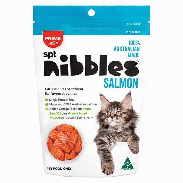 Prime Pantry Nibbles Salmon 40g Pet: Cat Category: Cat Supplies  Size: 0kg  Rich Description: Made in...