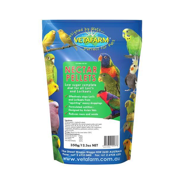 Vetafarm Lorikeet Nectar Pellets 350g Pet: Bird Category: Bird Supplies  Size: 0.3kg  Rich Description:...