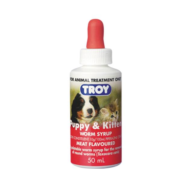 Troy Puppy And Kitten Worm Syrup 50ml Pet: Dog Category: Dog Supplies  Size: 0.1kg  Rich Description:...