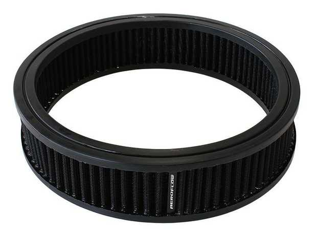 """Replacement Round Air Filter Element 9"""" x 2"""", washable cotton filter element."""