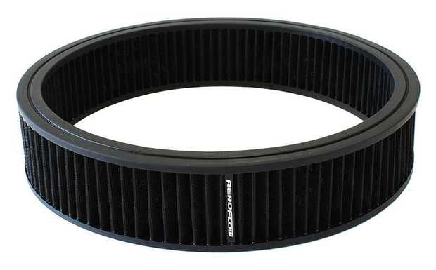 """Replacement Round Air Filter Element 14"""" x 2-1/4"""", washable cotton filter element."""