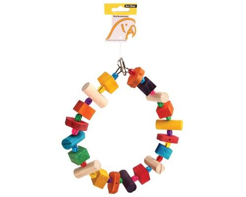AVI ONE PARROT TOY WOODEN RING WITH ACRYLIC BEADS 27CMThe Avi One Parrot Wooden Ring is not only the...