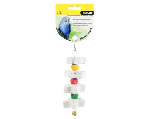 AVI ONE BIRD TOY MINERAL STAR KABOB SMALLAvi One Bird Toy Mineral Star Kabob is a colourful toy to add...