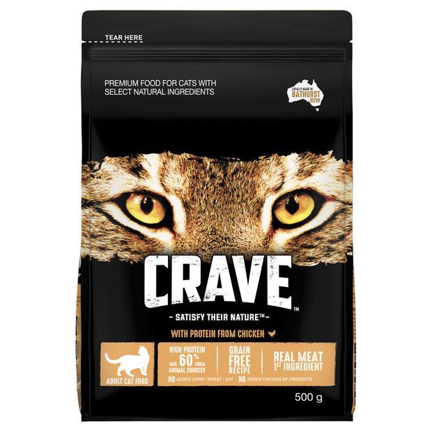 Crave Dry Cat Food Chicken Bag 500g Pet: Cat Category: Cat Supplies  Size: 0.4kg  Rich Description:...