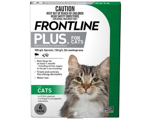 FRONTLINE PLUS CAT (6PK) - GREENFor the treatment and prevention of flea (Ctenocephalides felis)...