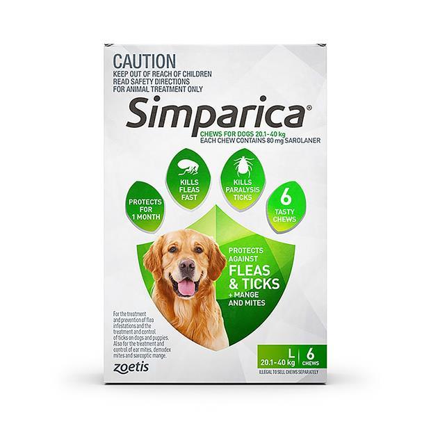 Simparica Flea Tick Chews Large Dog 3 Pack Pet: Dog Category: Dog Supplies  Size: 0.5kg  Rich...