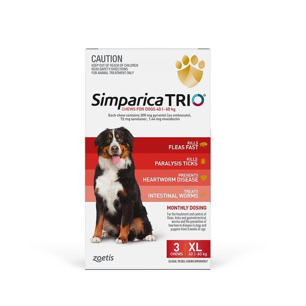 Simparica Trio Very Large 6 Pack Pet: Dog Category: Dog Supplies  Size: 0.5kg  Rich Description:...
