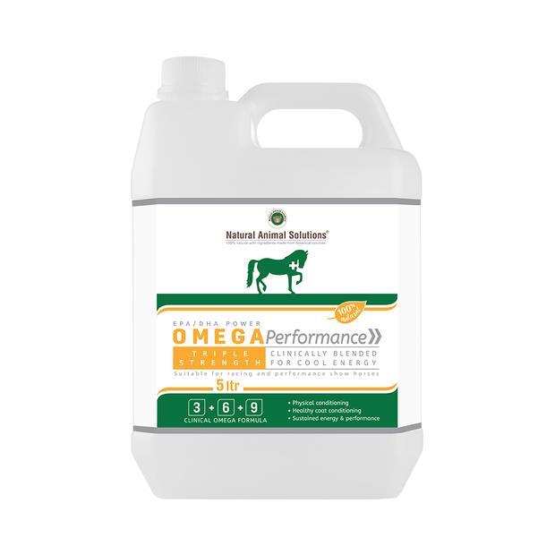 Natural Animal Solutions Omega Performance Supplement 5 Litre Pet: Horse Size: 0.2kg  Rich Description:...
