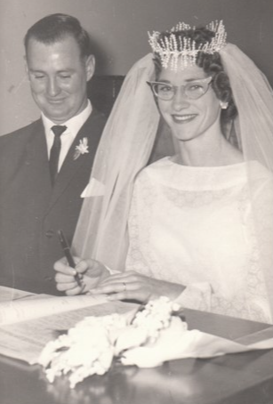 Keith and Betty Douglas (nee Moore). Married Charleville 29.04.1961. Congratulations to you both...