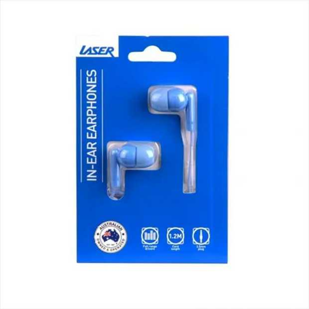 The Laser earbud headphones in ICY MORN has soft silicone earbud covers that provide comfort to the...