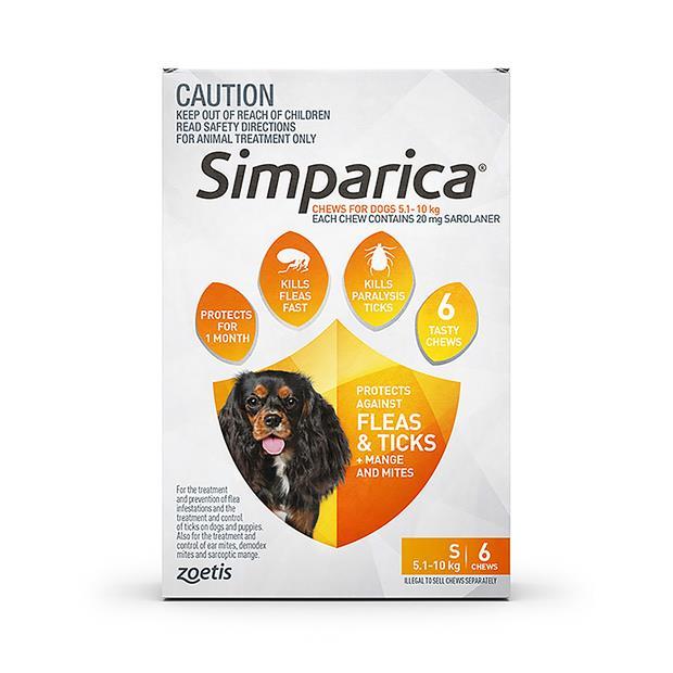 Simparica Flea Tick Chews Small Dog 6 Pack Pet: Dog Category: Dog Supplies  Size: 0.5kg  Rich...