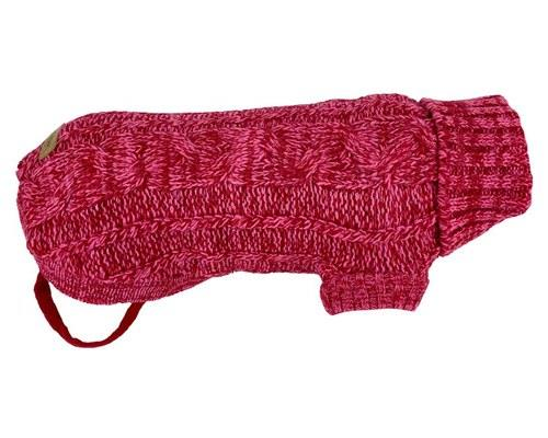 HUSKIMO CABLE KNIT CHAM RED 46CMKnitting a sweater for your dog says 'I love you'. Buying a knitted...