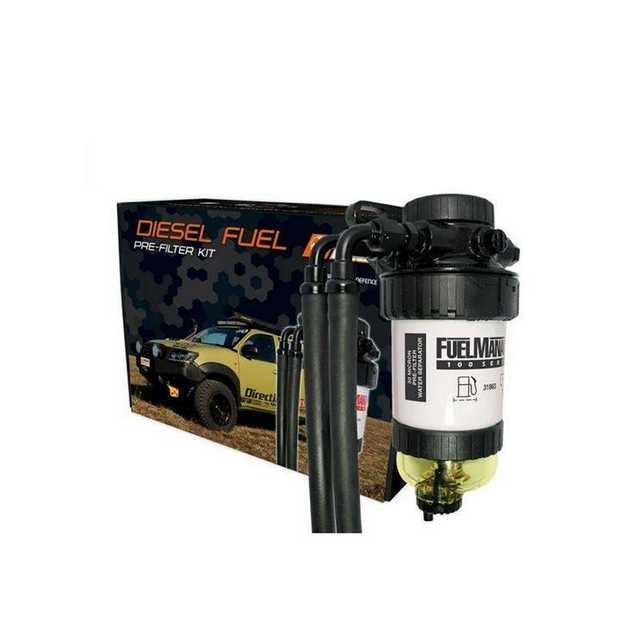 The Universal Fuel Manager Pre-Filter Kit FM801DPK, comes with a 30 micron element, bracket and 10mm...