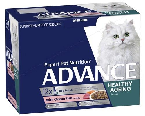 ADVANCE ADULT CAT 8+ YEARS MATURE WITH OCEAN FISH IN JELLY | 85g x 12There's a reason it's...