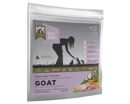 MEALS FOR MEOWS GOAT GRAIN FREE CAT FOOD 2.5KG'High on a hill was a lonely goatherd. Lay ee odl lay ee...