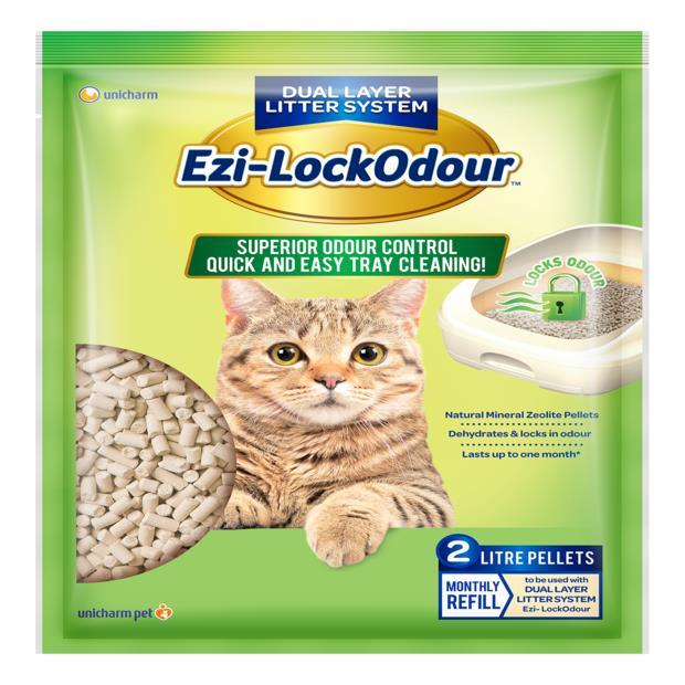 Ezi Lockodour Natural Mineral Zeolite Pellets 2L Pet: Cat Category: Cat Supplies  Size: 1.8kg Material:...