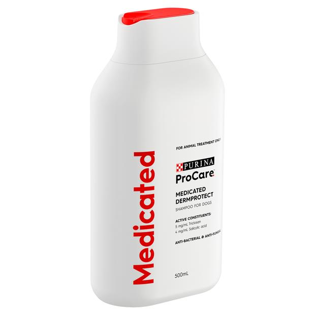 Procare Dermprotect Medicated Shampoo 500ml Pet: Dog Category: Dog Supplies  Size: 3.5kg  Rich...