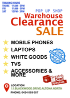ELECTRONICS CLEARANCE SALE POP UP