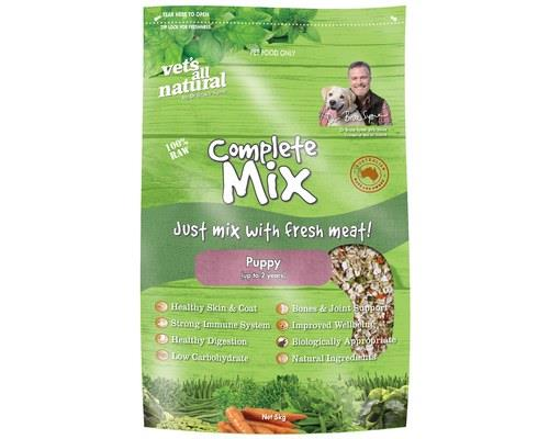 VETS ALL NATURAL COMPLETE MIX PUPPY 5 KG  *  A healthy balanced diet consists of natural vegetable...