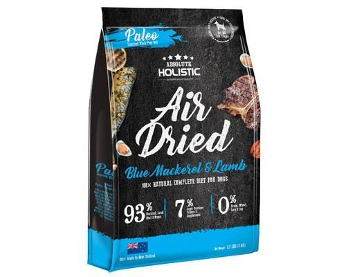 ABSOLUTE HOLISTIC AIR DRIED DOG FOOD - BLUE MACKEREL & LAMB 1KGThe Absolute Holistic Air Dried Dog...
