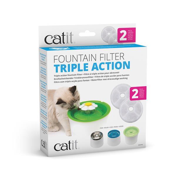 Catit Triple Action Filter 2 Pack Pet: Cat Category: Cat Supplies  Size: 0.2kg  Rich Description:...
