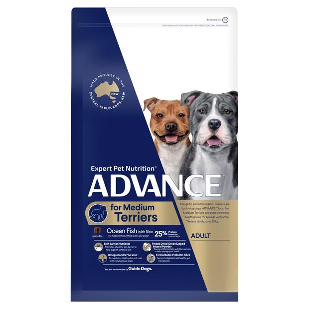 Advance Adult Medium Terrier Dry Dog Food 13kg Pet: Dog Category: Dog Supplies  Size: 13kg  Rich...