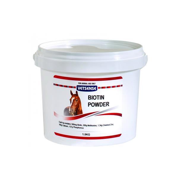 Vetsense Biotin Hoof Powder 1.5kg Pet: Horse Size: 1.6kg  Rich Description: Suitable for All horse on...