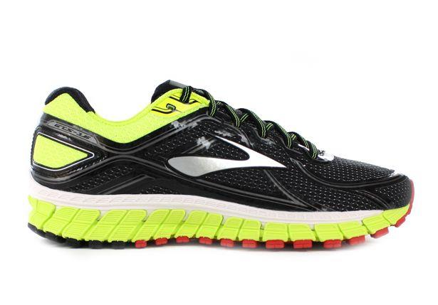 The Brooks Mens Adrenaline GTS 16 Black/High risk Red running shoes are fit for those who require a...