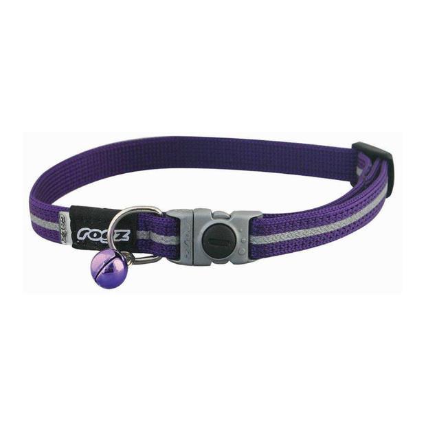 Rogz Alleycat Collar Purple 11 Mm Pet: Cat Category: Cat Supplies  Size: 0.2kg Colour: Purple  Rich...
