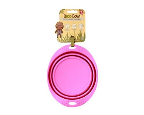 BECO PETS PINK TRAVEL BOWL MEDIUMA food and water bowl that folds flat, making it ideal for travelling.