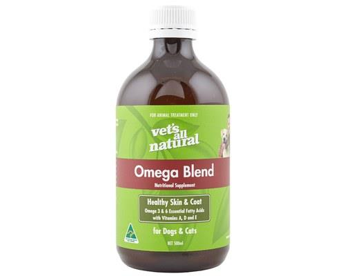 Vets All Natural Omega Blend Oil for Dogs and Cats, 500mlOmega Blend Oil for dogs and cats is a daily...