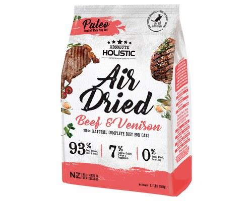 ABSOLUTE HOLISTIC AIR DRIED CAT FOOD - BEEF & VENISON 500GMAir Dried Holistic Cat Treats from New...