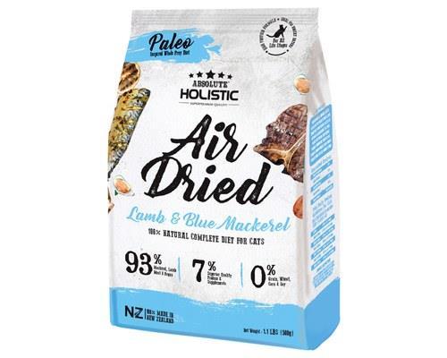 ABSOLUTE HOLISTIC AIR DRIED CAT FOOD - BLUE MACKERAL & LAMB 500GMAir Dried Holistic Cat Treats from...