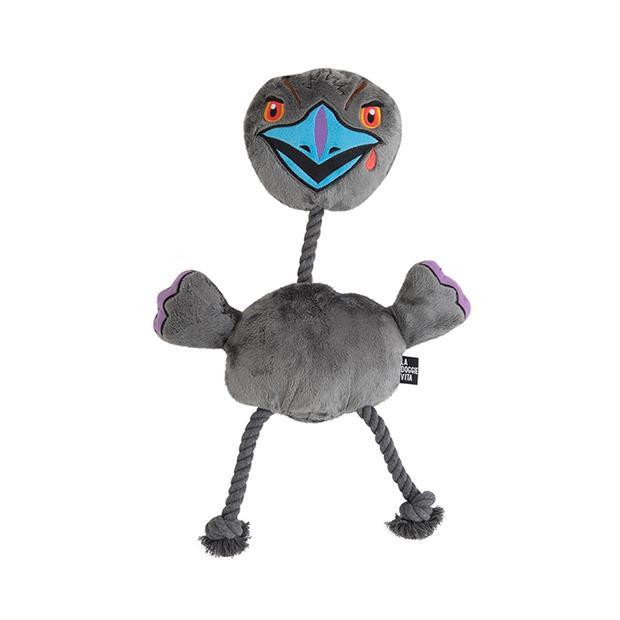 La Doggie Vita Toy Rope Evil Emu Small Pet: Dog Category: Dog Supplies  Size: 0.2kg Colour: Grey...