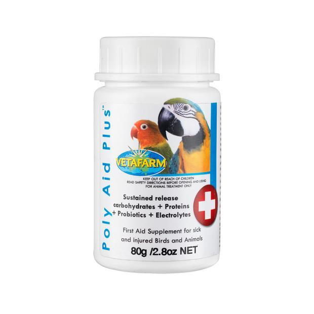 Vetafarm Poly Aid Plus Probotic 80g Pet: Bird Category: Bird Supplies  Size: 0.1kg  Rich Description:...