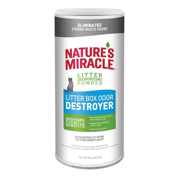 Natures Miracle Cat Litter Box Odour Destroyer Powder 567g Pet: Cat Category: Cat Supplies  Size: 0.1kg...