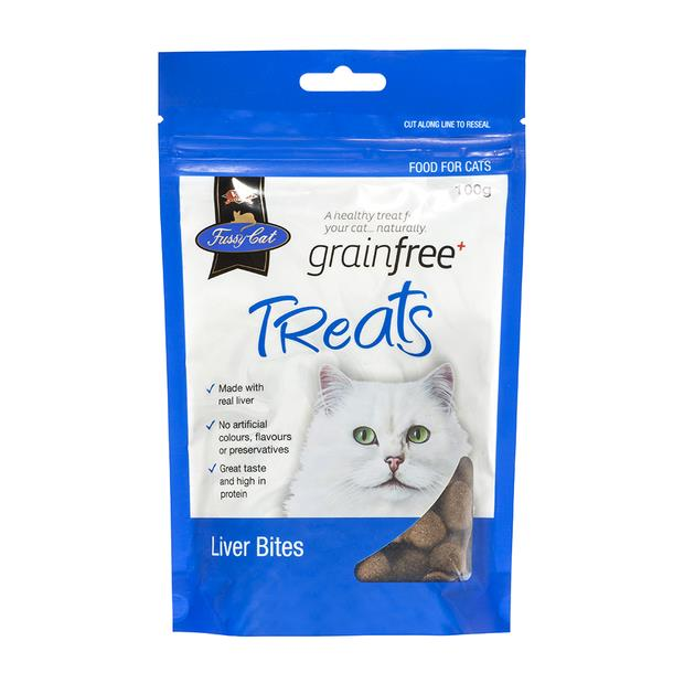 Fussy Cat Grain Free Cat Treats Liver Bites 100g Pet: Cat Category: Cat Supplies  Size: 0.1kg  Rich...